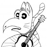 Catbird w/ Guitar by Todd Remley